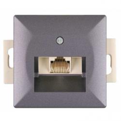 Priza telefon antracit fara rama - Aparataj electric perla
