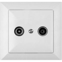 ALB Priza RTV intermediara 14db - Aparataj electric perla