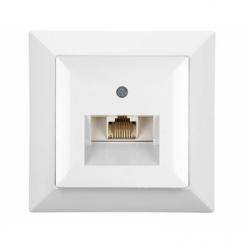 ALB Priza computer simpla alb - Aparataj electric perla