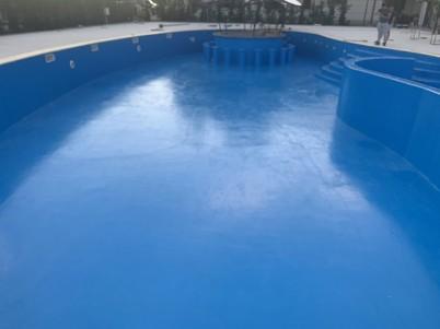Detaliu - piscina impermeabilizata cu poliuree - Hidroizolatii piscine cu poliuree