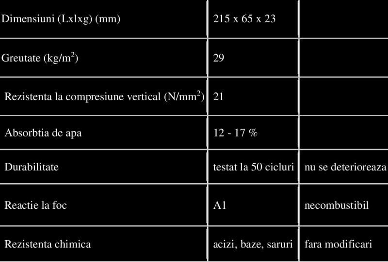 Date-tehnice caramida antichizata - Antet