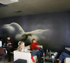 Pictura murala restaurant Q - Pictura murala in baruri, cafenele