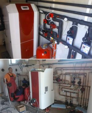 Montaj pompe de caldura Apa-Sol - marca Dimplex - Tipuri de montaj a unei pompe de caldura - Ciupirom