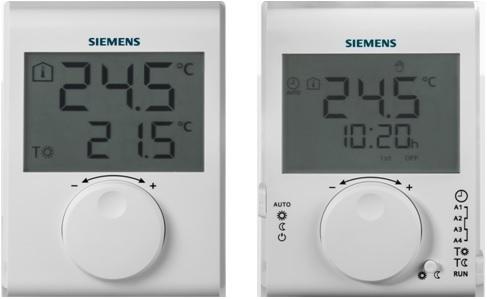 Noile termostate RDH si RDJ de la Siemens - Noile termostate RDH și RDJ de la