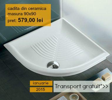 Promo cadita ceramica de dus 90x90cm - ITALBOX - Produsul lunii ianuarie 2015 de la ITALBOX