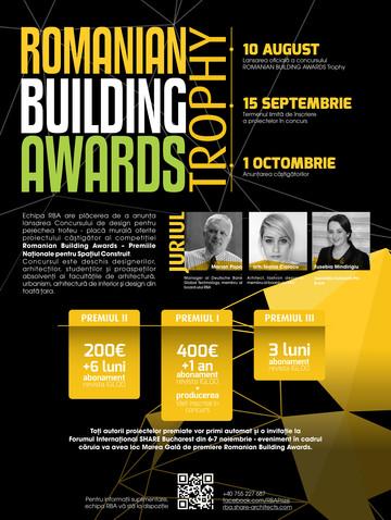 Romanian Building Awards lanseaza Concursul de design Romanian Building Awards Trophy - Romanian Building Awards lansează Concursul de design Romanian Building Awards Trophy