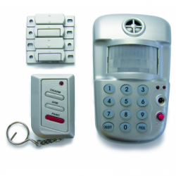 Alarma senzor de miscare, sirena, 2 contacte magnetice - Alarme electrice