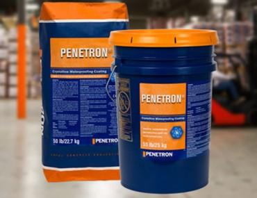 Penetron - Material de impermeabilizare integral cristalin pentru beton - Hidroizolatii si impermeabilizare pentru structuri din beton