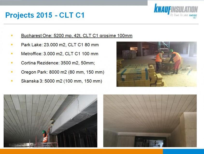 CLT C1 C2 de la Knauf Insulation - vata minerala bazaltica pentru plafoanele parcarilor garajelor si