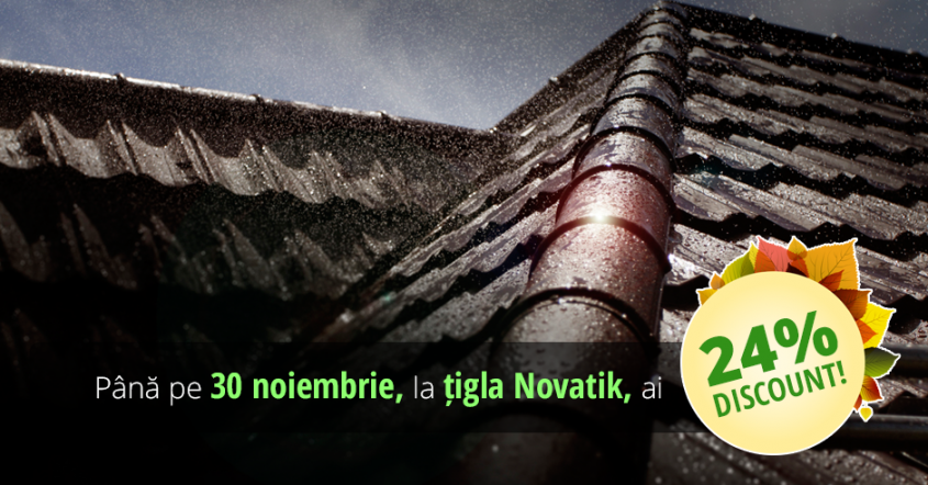 Sisteme de invelitori NOVATIK - Sezonul reducerilor la tigla metalica NOVATIK