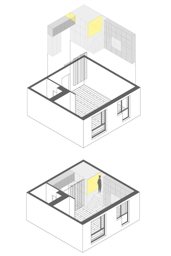 Planuri - Apartament de 35mp optimizat pentru un trai confortabil