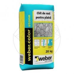 Chit Rosturi Piatra Naturala - Weber Color Stone Alb - 20kg - Accesorii piatra naturala