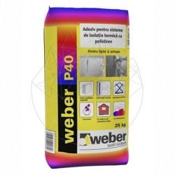 Adeziv pentru sisteme de izolatie termica - Weber P40 max -25kg - Accesorii piatra naturala