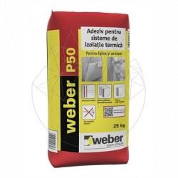 Adeziv flexibil pentru sisteme de izolatie termica - Weber P50 -25kg - Accesorii piatra naturala