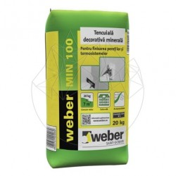 Tencuiala decorativa minerala - Weber MIN 100 -20kg - Accesorii piatra naturala