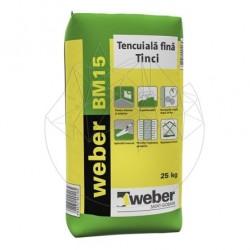 """Mortar de tencuiala fina """"tinci"""" - Weber BM15 -25kg - Accesorii piatra naturala"""
