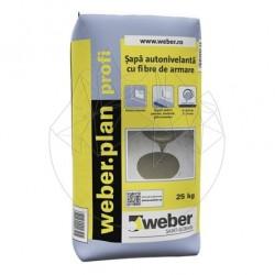 Sapa autonivelanta cu fibre de armare - Weber.Plan Profi -25kg - Accesorii piatra naturala