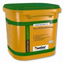 Hidroizolatie flexibila bicomponenta pentru interior si exterior - Weber Tec SuperFlex D2 24kg - Accesorii piatra naturala