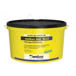 Hidroizolatie flexibila impermeabila pt. interior - Weber Tec 822 - 24kg - Accesorii piatra naturala