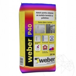 Adeziv pentru sisteme de izolatie termica - Weber P40 max² -25kg - Accesorii piatra naturala