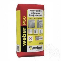 Adeziv flexibil pentru sisteme de izolatie termica - Weber P50 - 25kg - Accesorii piatra naturala