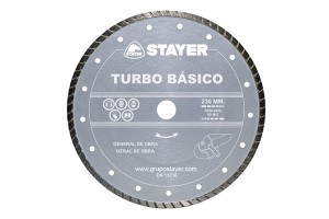 Disc diamantat TURBO BASIC STAYER - Accesorii polizoare de banc si unghiulare Stayer