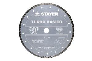 Disc diamantat TURBO BASIC STAYER - Accesorii polizoare de banc si unghiulare Stayer