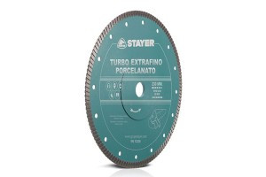 Disc diamantat TURBO EXTRAFINO PORCELANATO STAYER - Accesorii polizoare de banc si unghiulare Stayer
