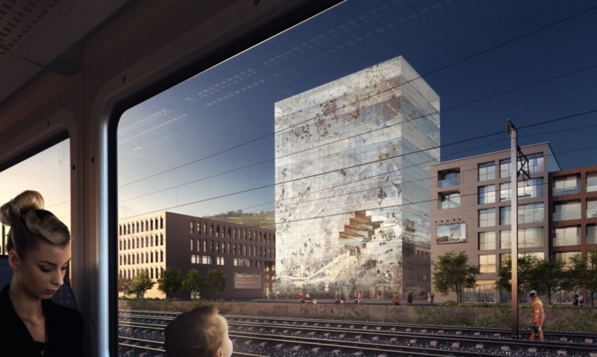 Cladirea The Milestone - Noua clădire a biroului MVRDV va semăna cu un bloc uriaș de