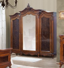 Dulap 3 usi lemn masiv Poesis - Mobila dormitor lemn masiv Poesis