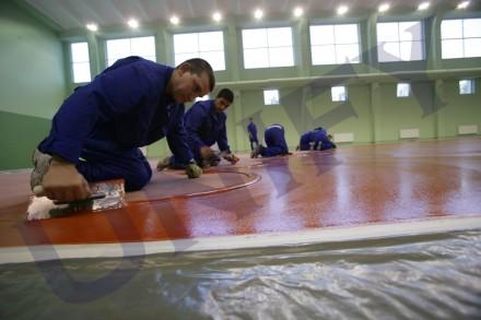 Pardosela epoxidica - sala de sport - Pardoseli epoxidice industriale