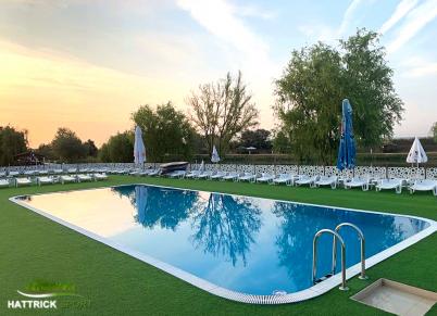 Amenajare teren de langa piscina cu gazon DECOR - Proiecte HATTRICK SPORT