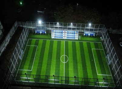 Teren de fotbal amenajat  cu gazon sintetic - Proiecte HATTRICK SPORT