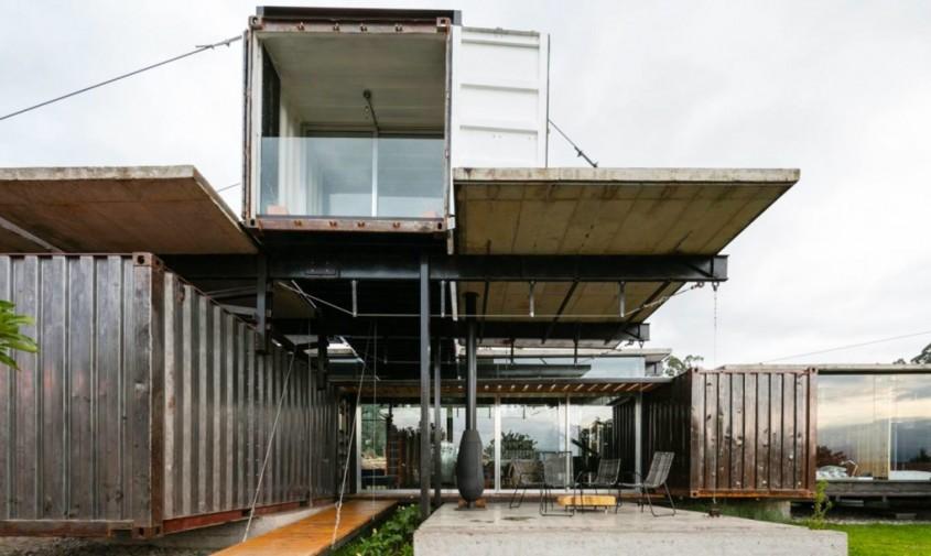 Casa RDP - O casa din containere se monteaza si se demonteaza in doi timpi si