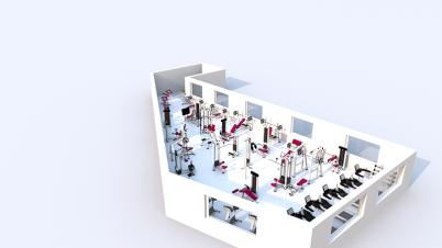 Nechita Gym - schita 3D - Consultanta Centre fitness, spa si welness