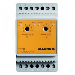 Termostat cu sina de temperatura/umiditate ETR-2 DIN - Termostate si senzori