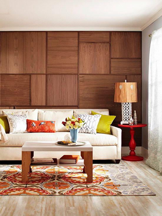 Panouri de lemn - Pereti placati cu lemn: cand mai putin inseamna mai mult