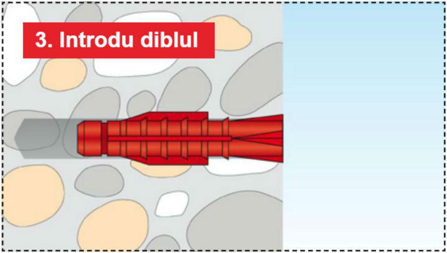 Pasul 3 - Structuri durabile cu diblurile Tox Tri