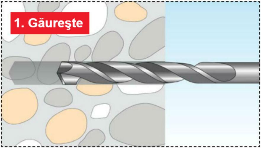 Pasul 1 - Structuri durabile cu diblurile Tox Tri