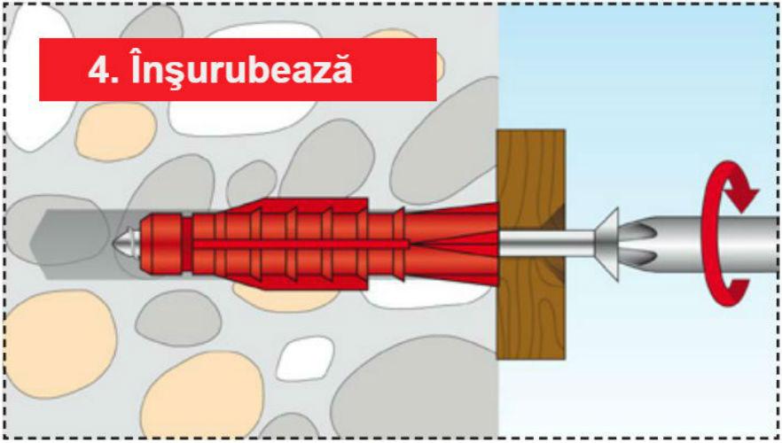Pasul 4 - Structuri durabile cu diblurile Tox Tri