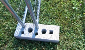 Suport gard mobil din beton - Accesorii pentru garduri mobile