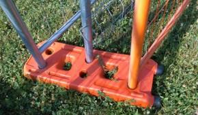 Suport gard mobil din pvc - Accesorii pentru garduri mobile