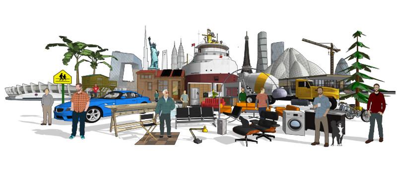 3D Warehouse - SketchUp Pro 2017