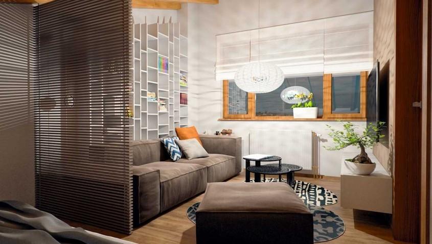cozy-apartment-design - Soluții inteligente pentru economisirea spațiului din garsoniere