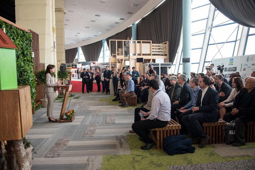 Cristiana Pasca Palmer Ministrul MMAP - Parteneriat dintre Ministerul Mediului Apelor si Padurilor si Romania Green