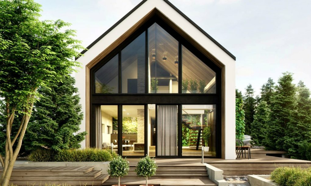 O casa in padure beneficiaza de gradini verticale  - O casă în pădure beneficiază de grădini verticale