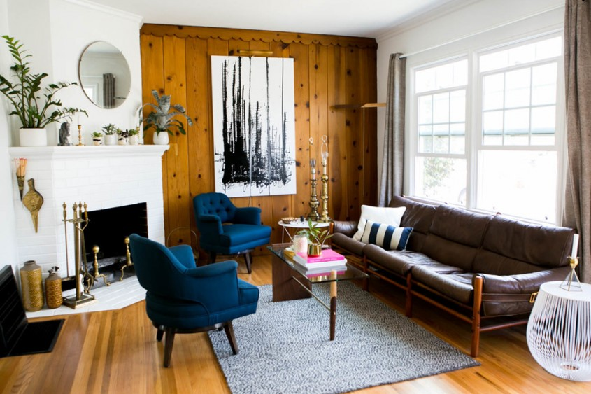 Lambriuri - Pereti placati cu lemn: cand mai putin inseamna mai mult