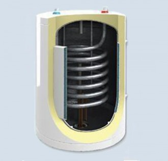 Boiler de perete cu doua serpentine si vas in vas BB S1M - Boilere