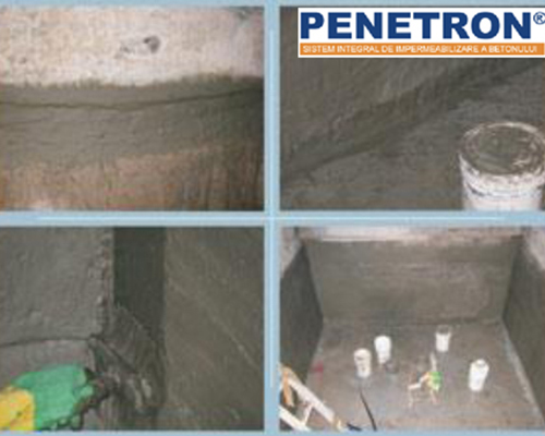 Aplicare sistem Penetron - Impermeabilizare si reparatii subsoluri prin tehnologia cristalelor active