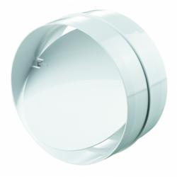 Conector cu clapeta antiretur 125mm - Accesorii ventilatie tubulatura pvc si conectori